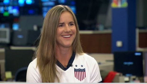 [BAY] Brandi Chastain Roots for U.S. Soccer Team