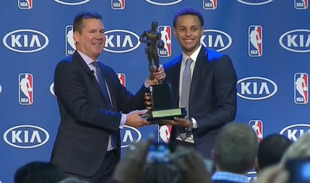 Golden State Warriors All-Star Stephen Curry Named NBA Most Valuable Player