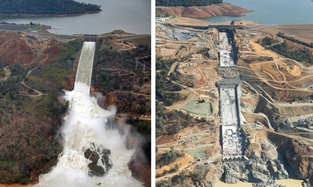 [LA GALLERY Updated 10/4] Photos: What It Takes to Repair a Damaged Spillway at the Nation's Tallest Dam