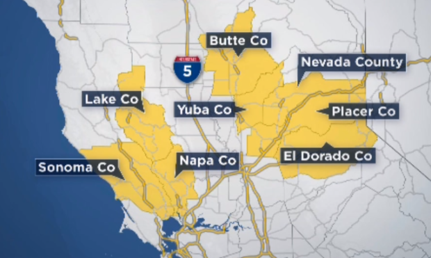 [BAY] High Fire Danger May Lead to PG&E Power Shutoff in the North Bay