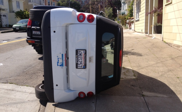 Bay Vandals Flip Smart Cars Over In San Francisco