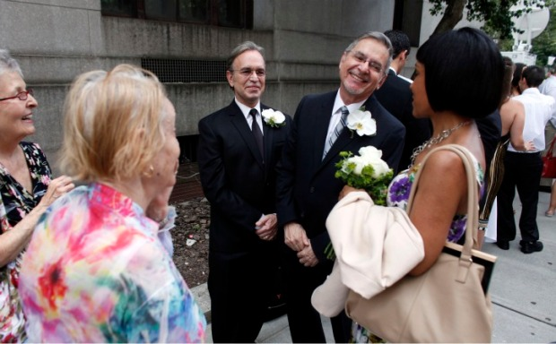 Gay Couples Wed on First Day Same-Sex Marriage Is Legal