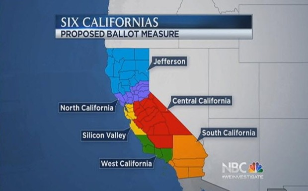 [BAY] Venture Capitalist Proposing to Divide California Into Six States