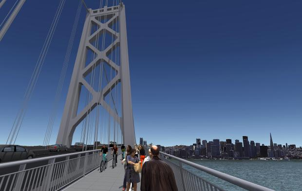 MTC Unveils Designs for Bay Bridge Bike Paths