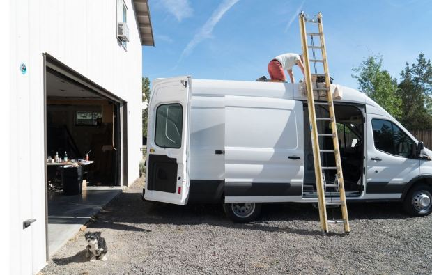 San Francisco Couple Transforms Van Into Nomadic Home