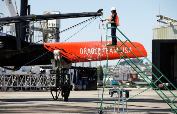 Oracle Team USA Launches New AC72 Racing Yacht