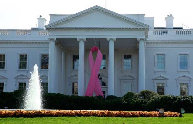 White House Gets Pink Ribboned