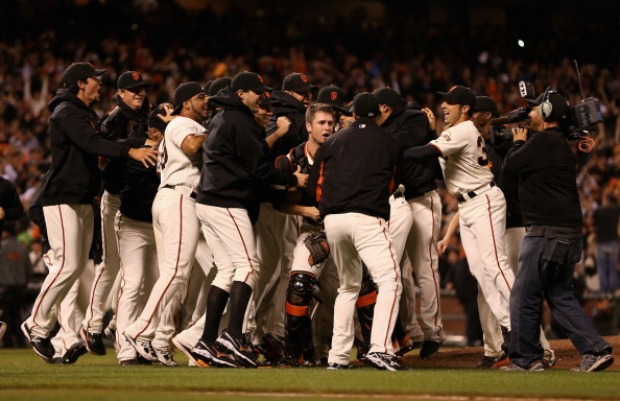 Giants Celebrate Clinching NL West