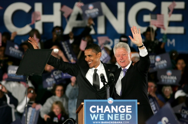 Obama and Clinton Campaign in Florida