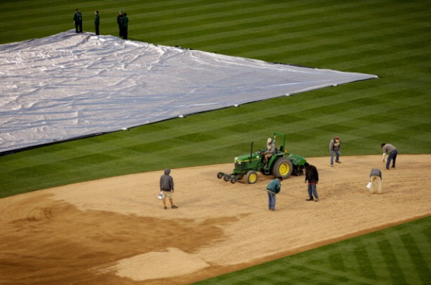 [BAY] Wet Field Forces Cancellation of A's Game