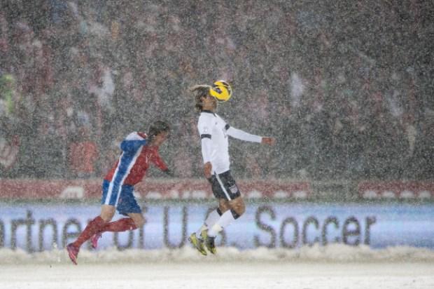 Snowy FIFA 2014 World Cup Qualifier Match