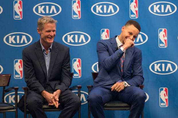 PHOTOS: Curry Accepts MVP, Second Year in a Row