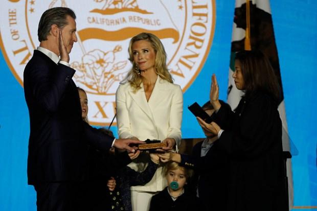 Gavin Newsom Sworn-In as California's 40th Governor