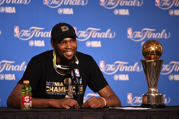Durant Captures First Title, NBA Finals MVP Award
