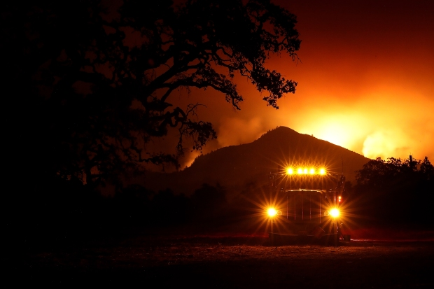 [BAY GALLERY BAY ONLY SB]North Bay Inferno: Images From Wine Country's Deadly Fires
