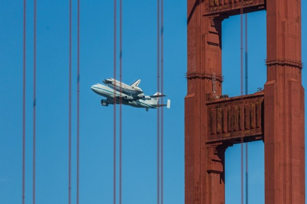 Photos: Endeavour's Bay Area Flyover