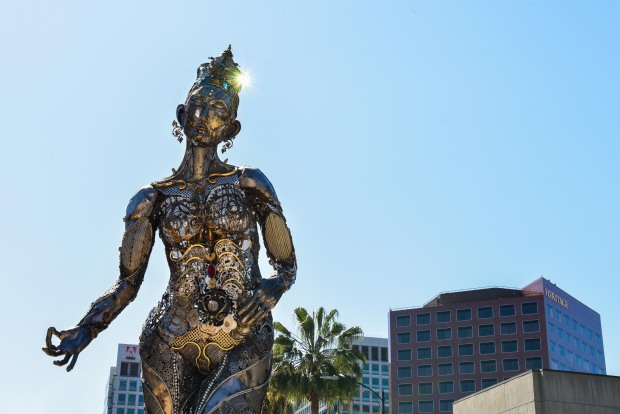 [BAY] Artist Hopes San Jose's Latest Burning Man Sculpture Will Inspire Peace