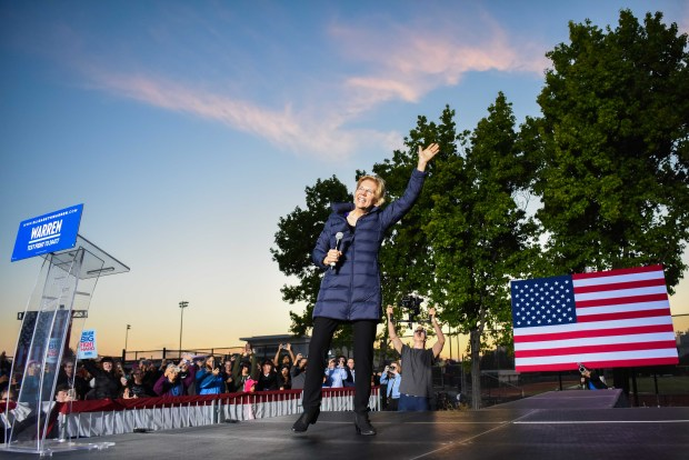 Senator Elizabeth Warren Rallies in Oakland