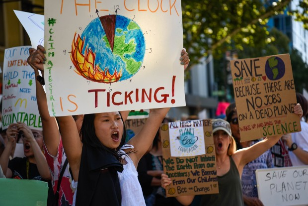 SJ Activists Take to Streets to March for Climate Strike