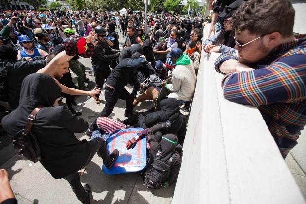 White Nationalists and Antifa Skirmish in Berkeley