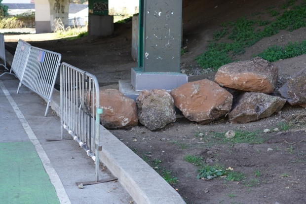 Boulders Placed at Cleared San Francisco Homeless Encampment