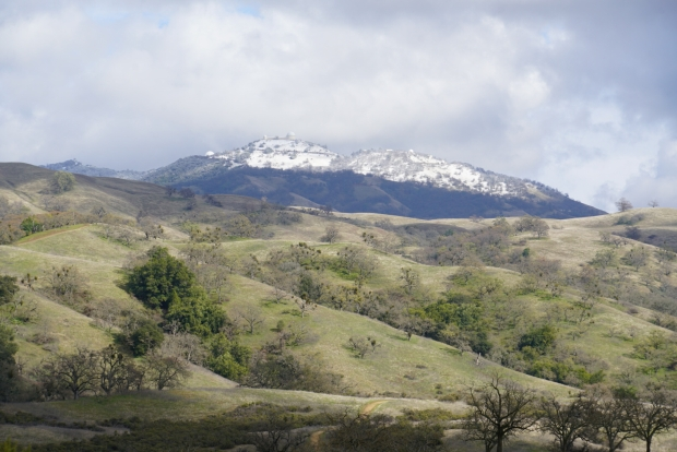 Bay Area Peaks Welcome Dusting of Snow