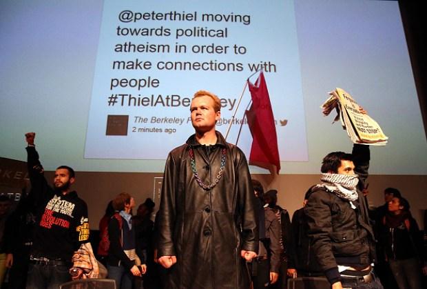 Protesters Disrupt Peter Thiel Talk at UC Berkeley