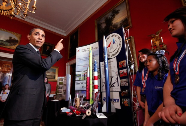 Obama Checks Out Fancy Science Projects