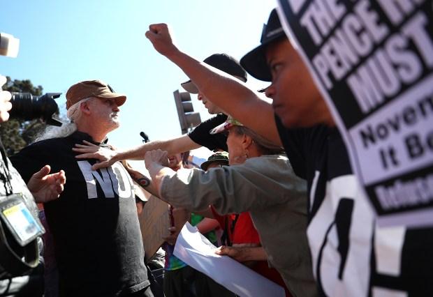 RAW: Demonstrators Face Off in Berkeley Before Milo's Visit