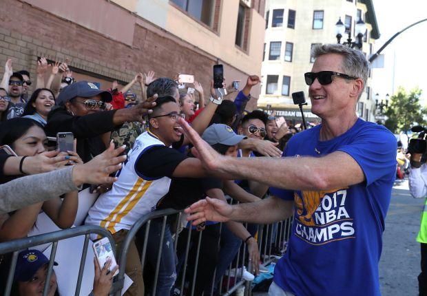 Warriors Parade: Steve Kerr Celebrates Team's Championship