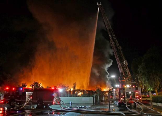 Fire Ravages San Jose Nursery