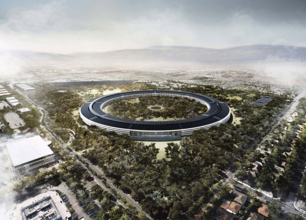 Apple's New 'Spaceship' HQ in Pictures (Renderings)