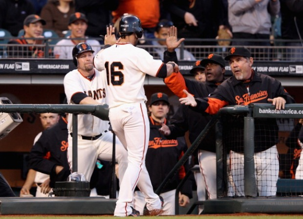 Giants Even Series With Phillies (Images)