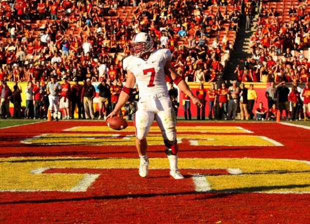 Stanford Stands Alone ... In the End Zone
