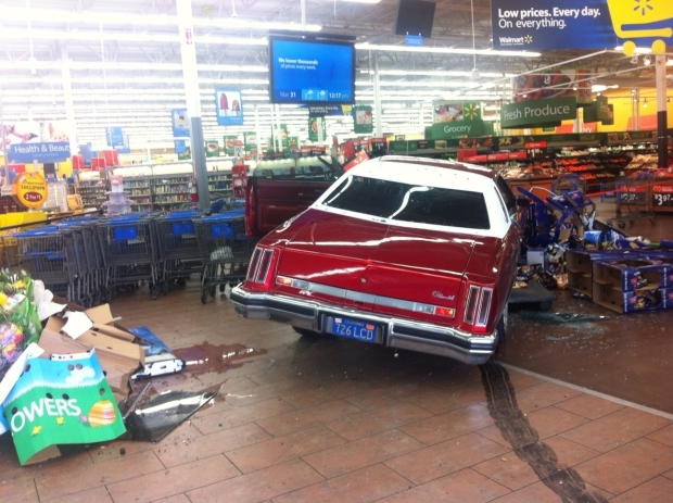 [BAY] Police: Man Drives Car Into San Jose Walmart, Beats Customers