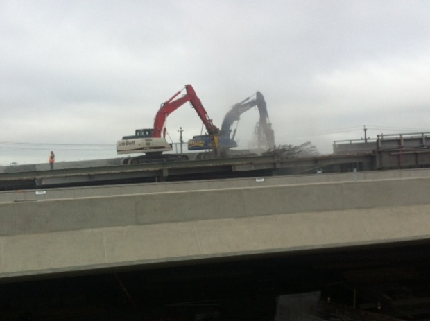 [BAY] Bay Bridge Closure Day 2, Construction on New Span Underway