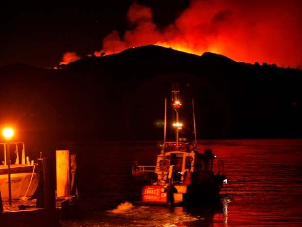 Wildfire Rages On Angel Island