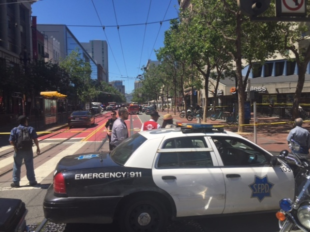 Police Activity Shuts Down Part of Market Street in San Francisco