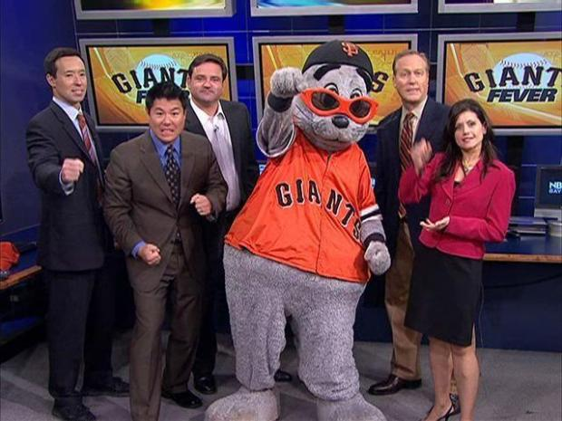 Lou Seal Stops By NBC Bay Area