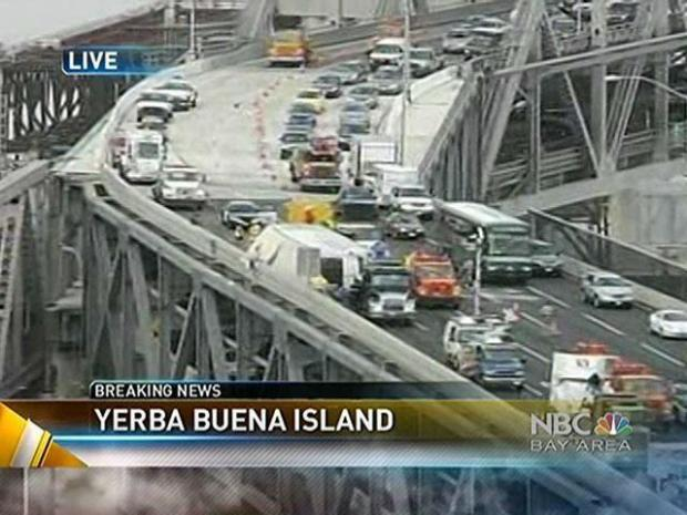 [BAY] Overturned Truck Wrecks Bridge Commute