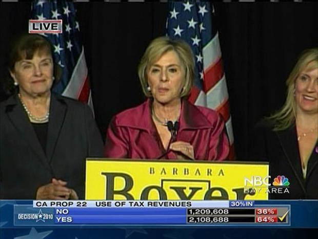 [BAY] Raw Video: Barbara Boxer Declares Victory