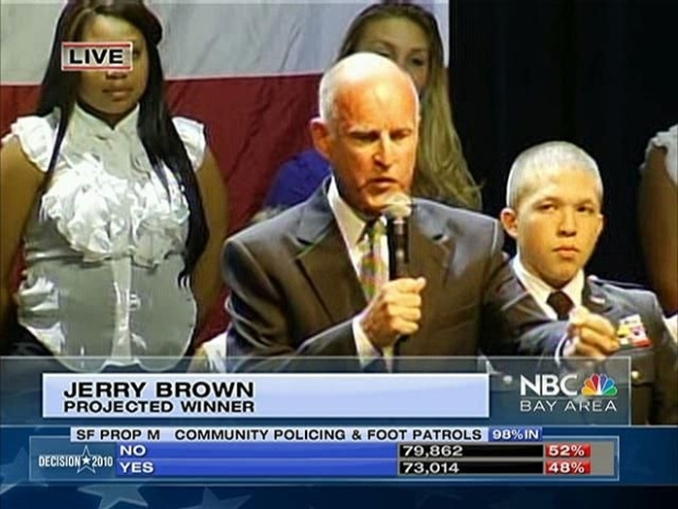 [BAY] Raw Video: Jerry Brown Wins