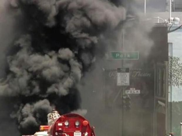 [BAY] Underground Explosion Sparks Manhole Fire