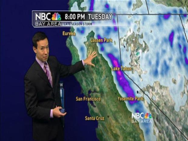 "[BAY] Monday's ""Winter-like"" Forecast with Rob Mayeda"