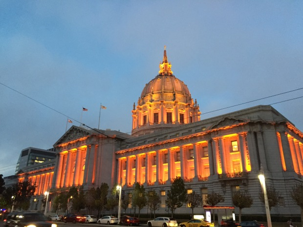 San Francisco Bathed in Orange For World Series