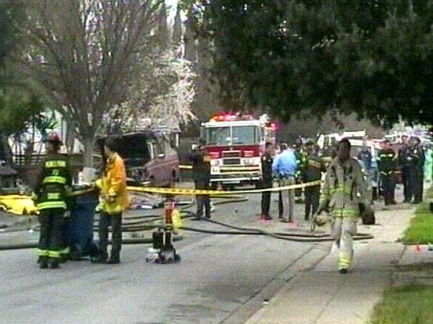 Plane Crashes Into Peninsula Neighborhood