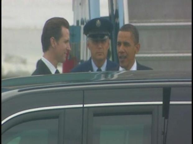 [BAY] RAW VIDEO:  President Obama Arrives at SFO