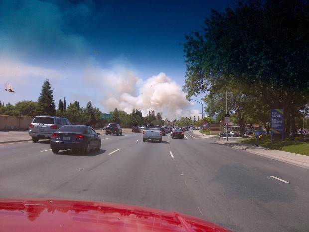 Brush Fire Quickly Knocked Down in San Jose