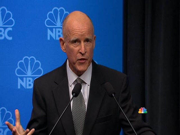 """[LA] Jerry Brown Grilled on """"Whore"""" Comments"""