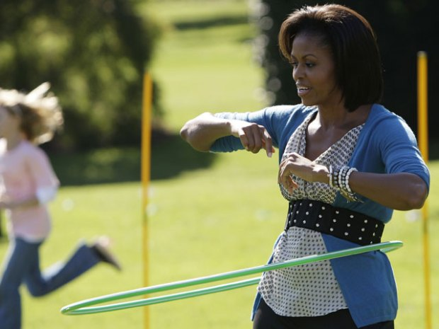 Michelle Obama Hula Hoops